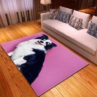 Perro de mascota Impreso 3D alfombra de juego cabritos de la decoración decoración de la habitación de noche Alfombra Sofá manta de área de franela Alfombras Alfombras de Home Living