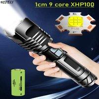 Фонарические фонарики Zoom мощный светодиодный горелка XHP100 XHP70 USB аккумуляторная охотничьего лампа водонепроницаемый 26650 18650