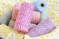 El algodón caliente BAKER TWINE 21 colores embalaje del regalo DOBLE algodón color TWINE