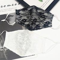 미국 주식 여성 레이스 꽃 선 스크린 모조 실크 통기성 입 머플 여름 썬 프로텍션 입 얼굴 방진 마스크 FY0055