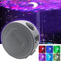lumière de projection LED, lumière étoilée de projection ciel, lumière du grain de l'eau LED nébuleuse veille prolongée Starlight 360 degrés de rotation lampe de nuit d'éclairage