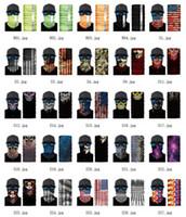 ABD STOK 3D Spor Kafatası Bisiklet Balıkçılık Eşarp Shield Bayrak Kamuflaj Yüz Kafa Bandana Şapkalar Halka Eşarp bisiklet yün Maske bandanalar