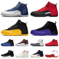 nike air jordan retro 12 12s chaussures de basket-ball pour hommes jumpman Stone Blue 12 Reverse Flu Game University Gold 12 Dark Concord baskets baskets pour hommes