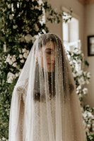 One Layer Pearls Wedding Veils With Comb Soft Tulle Long Wholesale Price Bridal Veils Cheap Wedding Accessories For Bride Bridal Accessories