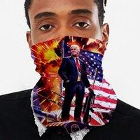 Máscara Moda Trump Lenços América Impressão Biden 3D Bandeira Ciclismo máscara de protecção contra pó e Sun Magia lenço IIA357