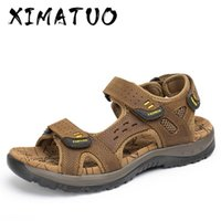 Summer Casual Men Sandals Holiday Beach Men Shoes Genuine Le...