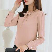 Camicie da donna Camicie Locali Autunno autunno Camicia da donna bianca manica lunga manica lunga vestiti coreani streetwear Chiffon camicetta elegante Blusa Tops
