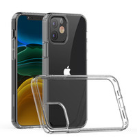 Чехлы для телефонов для iPhone 11 12 Pro Max Mini 1.5 мм Очистить прозрачный акриловый + TPU ударопрочный мобильная крышка задней оболочки D1