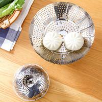 Extensible Pannen outil de cuisine S M L en acier inoxydable pliant panier Gamelle vapeur Mesh légumes vapeur Cuisinière à vapeur DH0479