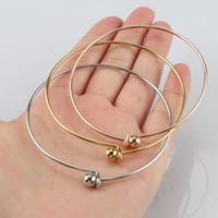 100% in acciaio inossidabile 2 millimetri filo espandibile Bracciale Adjustable Base braccialetto fai da te fascino del braccialetto dei braccialetti 60 millimetri 10pcs CX200729