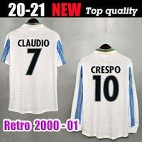 Lange Kurzarm 2000 2001 Retro Latium Soccer Trikots # 13 Nesta Crespo Salas Mihajlovic Inzaghi Neded Classic Vintage Football Hemden Ital