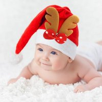 Lovely Bowknot Christmas Hat Excellent Durable Lithe Non- wov...