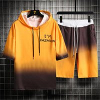 Designer Shorts T- shirt Tracksuits Male Casual Hooded Collar...