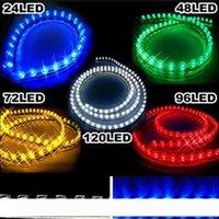 Auto 24cm 48cm 72cm 96cm 120cm wasserdicht PVC LED Neon-Auto-Licht-Streifen flexible Streifen
