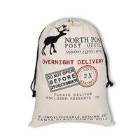 Nova Natal Santa Sacks fornece Papai Noel saco do presente Saco vermelho com cordão saco do presente de Natal de lona Xmas Sackgift Designs livre por DHL