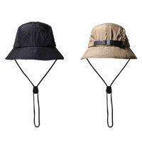 Strapback الصياد قبعة دلو للنساء الرجال صامد للريح حبل الصيد كاب بوب بنما الصيف مصمم الأزياء الكورية قبعات الهيب هوب واقية من الشمس