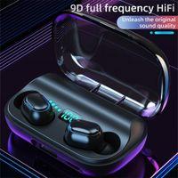 Cuffie T11 TWS senza fili Bluetooth 5.0 auricolare in-ear 3300mAh carica bin Stereo auricolari IPX7 impermeabile di sport Headset PK F9