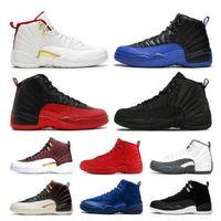 Ücretsiz Çorap Ucuz Toptan ayakkabı 12s Erkekler Basketbol Ayakkabı siyah beyaz kurt gribi oyunu Sneaker Boyut ABD 7-13