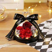 Dekorative Blumen Kränze Mütter Tag Geschenke Nelke an Mutter Eternal Exclusive Rose in Glas für Valentinstag Rosen Geburtstagsgeschenk DRi
