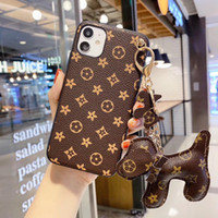Brand Designer con Fashon Dog Ornament Telefono Custodie per iPhone 11Pro 11 XS Max XS XR 8Plus 8 custodia in pelle 7Plus