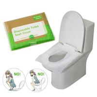 10PCS / حزمة يمكن التخلص منها ورقة يغطي مقعد المرحاض حماية مرحاض العام الجراثيم البكتيريا مقاومة للتغطية للسياحة الحمام JK2007KD