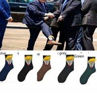 Trump Socks with Hair New President Donald Trump President Socks With Hair Unisex Adult Casual Hip Hop Skateboard Sock LJJK2419