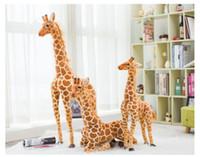 Новые поступления Огромная реальная жизнь Жираф плюшевые игрушки мило чучела животных кукол мягкий симулятор жираф кукла высокое качество день рождения подарок дети игрушка