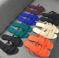 Фирменное наименование Носка Женские Сандалии Резиновые Babouche Плоские Обувь Тапочки Роскошный Модный Простой дизайн