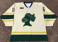 Seltene Vintage MAX DOMI London Knights Hockey Jersey Stickerei genähtes fertigen jede Nummer und Name Trikots