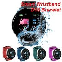 D18 الذكية سوار ضغط الدم معدل ضربات القلب تعقب المقتفي تقنية يمكن ارتداؤها مقاوم للماء الأساور الذكية smartwatch لجميع الناس