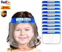 Stati Uniti Stock bambini protettiva trasparente Visiera maschera di plastica Protezione Full Face Mask isolamento anti-fog olio della mascherina protettiva cappello dello schermo FY8017