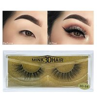 Mink Hair lashes big 3D Dramatic 25mm Long eyelashes Long False lashes 25 Styles 100 Real Mink Lashes 3D Eyelashes package