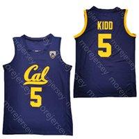 Yeni 2020 Kaliforniya Golden Ayılar Basketbol Forması NCAA Koleji 5 Jason Kidd Donanması Tüm Dikişli Ve Nakış