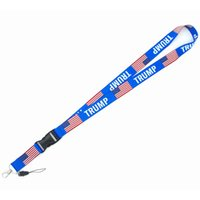 Donald Trump Neck Lanyard Trump Key Lanyard ID Badge Holders Phone Neck Straps with Keyring Phone Accessories Party Favor CCA12383 500pcs