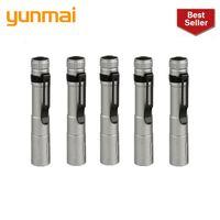 مشاعل مصباح يدافع 2021 Yunmai 6pc الجملة قطرة المحمولة البسيطة penlight Q5 2000LM LED الشعلة الجيب ضوء فانوس للماء