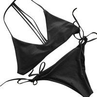 Donne Push-up Imbottito Bikini Sexy Bra Costume da bagno Costumi da bagno Costumi da bagno da bagno Beachwear Beachwear Monokini Piscina Costume Biquini Mujer