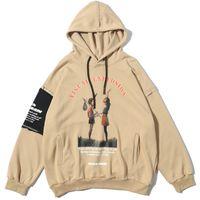 Creative Printing Hooded Streetwear 2020 Harajuku Sweatshirt Outwear Pullover Hoodies Sweatshirts Autumn Winter Hip Hop Hoodie