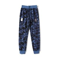 New Lover Letter Print Blue Camo Long Pants Trousers Autumn ...