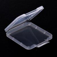 الذاكرة حالة بطاقة صندوق حالة وقائية CF بطاقة SD أداة بلاستيكية شفافة التخزين حماية حالة صندوق بطاقة الحاويات IIA337