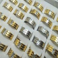оптовая 30 шт циркон Comfort подходит кольцо нержавеющей стали ювелирных изделия способа группы кольца для человека женщин