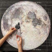 9 Stil yapboz bulmacalar 1000 adet Gökkuşağı Dilimli Yapboz Ay yeryüzü Jüpiter Bulmacalar Yetişkin Çocuk DIY Eğitim Oyuncak Puzzle B1