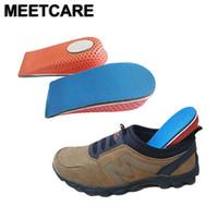 Aumento de la altura de elevación del talón de la plantilla de inserción zapato de la espuma del cojín del pie valgo Ortopédica Ascensor Taller Pies Cojín de pedicura Cuidado Herramientas