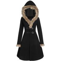 새로운 도착 Womens 겨울 눈 착용 겉옷 더블 브레스트 트렌치 코트 슬림 오버 코트 후드 크기 S-3XL