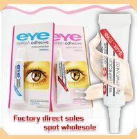 العين لاش الغراء أسود أبيض ماكياج لاصق الرموش ماء الرموش الصناعية المواد اللاصقة الغراء الأبيض والأسود DHL المتاحة