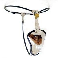 Incredibile in acciaio inox Cintura di castità maschile Mutandine Penis Sleeve Cock Ring Underwear Chastity Cage Dispositivi di giocattoli del sesso per gli uomini