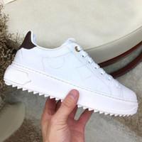 Designer Dame flache beiläufige Schuhe Leder Schnürschuh Letters Luxusfrauenschuhe 100% peitschen Art und Weise Plattform Männer Schuhe Größe 42-45