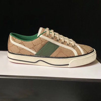 Lady Casual Schuhe Leder Sneaker Buchstaben Lace-up Stickerei Frau Freizeit Schuhe Mode Platform Neue Männer Leinwand Schuhe Große Größe 35-42-45