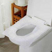 10pcs / paquete del papel higiénico desechable cubiertas del asiento Protect baño público gérmenes bacterias a prueba de la cubierta para el Baño JK2007XB