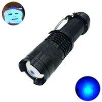 Taschenlampen Fackeln UV 365NM 395NM Mini-Entdecken Sie den FluorScer-Stift-Licht bequemer Zoom UVC UVA tragbar