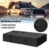 110 / 130cm carga carro telhado Bag 600D impermeável carga bagagem Travel Bag Basket Car Roof Top rack portador Universal